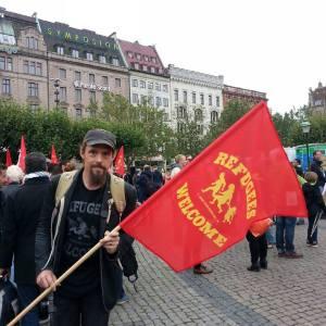 Från manifestationen i Malmö.